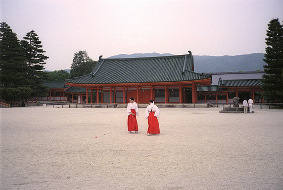 Heian Jingu Shrine Maidens