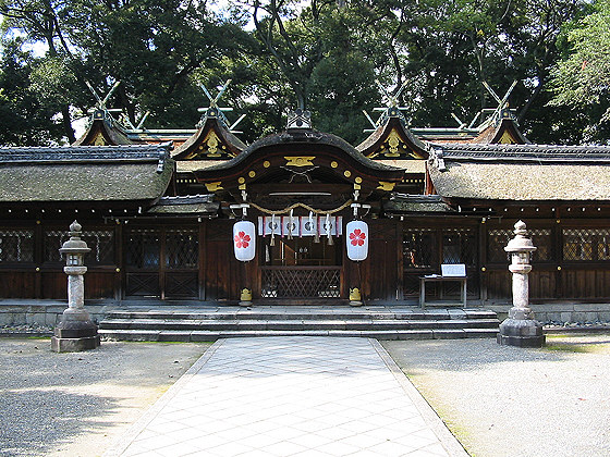 Hirano Taisha Shrine main hall