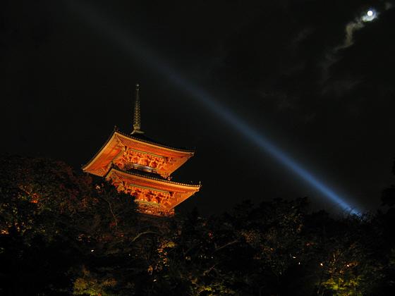 Kiyomizudera Temple Pagoda Moon