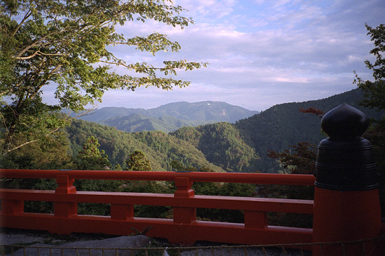 Mount Hiei viewed from Kurama
