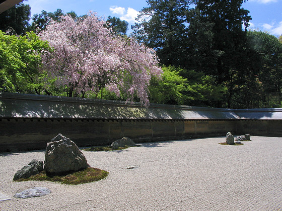 Ryoanji temple kyoto japan