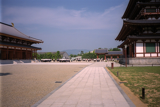 Yakushiji Temple Courtyard